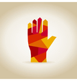 Hand abstraction vector image vector image