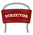 Back of the metal directorial chair vector image vector image
