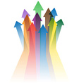 colorful arrows to success vector image vector image