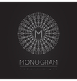 MONOGRAM icon 56trd vector image