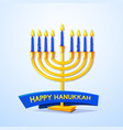 happy hanukkah vector image