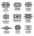 mexican aztec symbols vintage tribal vector image