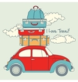 Retro Car Loaded For a Traveling vector image