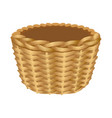 Single handle wicker basket isolated vector image