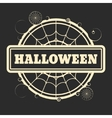 Stamp with Halloween text vector image