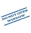 Do Not Open Window Watermark Stamp vector image