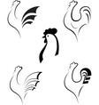 Chicken and cockerel vector image vector image