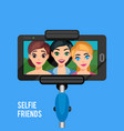 selfie photo template vector image