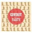 cowboy party card vector image
