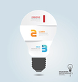 infographic Template with Light bulbs paper cut vector image