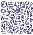 School education - doodles vector image vector image