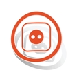 Socket sign sticker orange vector image