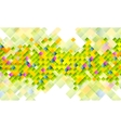 Abstract tech background with colorful squares vector image