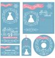 Wedding invitationsWinter Bridal shower set vector image