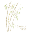 bamboo watercolor style vector image vector image