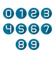 Icons numbers vector image