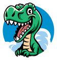 cheerful cute dino vector image