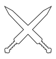 Crossed gladius swords icon vector image