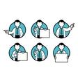 Doctor scientist teacher vector image