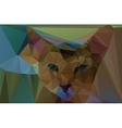 Polygonal red cat vector image