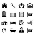 real estate icons vector image