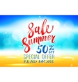 Summer sale marketing template with copy space vector image