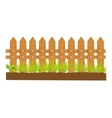 wooden fence sign isolated vector image