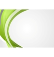 Abstract green corporate waves background vector image vector image