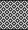 black and white squares pixel art seamless pattern vector image