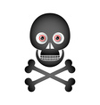 Skull and crossbones icon vector image vector image