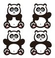 set of panda bears vector image