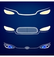Car Headlights vector image