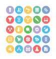 Science Colored Icons 1 vector image