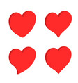 heart shape icon sign symbol silhouette love vector image