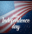 independence day of usa poster 4th of july vector image