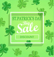 saint patricks day sale poster template vector image
