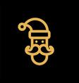 santa claus simple flat icon vector image