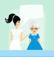 Senior woman with her caregiver vector image