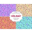 Set of four celebration holiday seamless patterns vector image