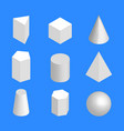 simple geometric figures isometric vector image