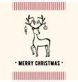 Vintage Christmas greeting card Christmas card vector image