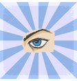 vintage grunge background with eye vector image