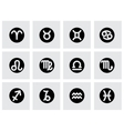 zodiac symbol icon set vector image