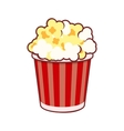 Popcorn Cinema Icon on White Background vector image