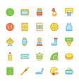 Sports Colored Icons 4 vector image
