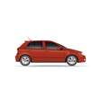 Hatchback car vector image vector image