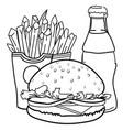 cartoon image of junk food cola drink vector image