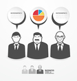 icons business people with dialog speech bubbles vector image vector image
