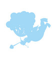 funny cupid isolated symbol of love cute little vector image