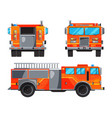 different sides of fire truck specific vector image